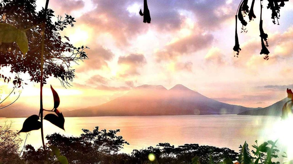 sunrise at lake atitlan guatemala